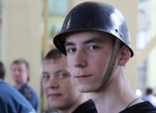 Детская команда на областных соревнованиях по пожарно-прикладному спорту